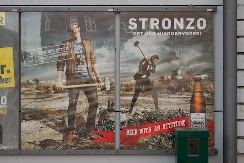 Bier-Werbung