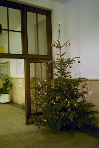 Weihnachtsbaum im Krankenhaus Nordstadt Hannover