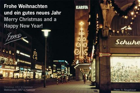 Weihnachten 1957 – Georgstraße in Hannover